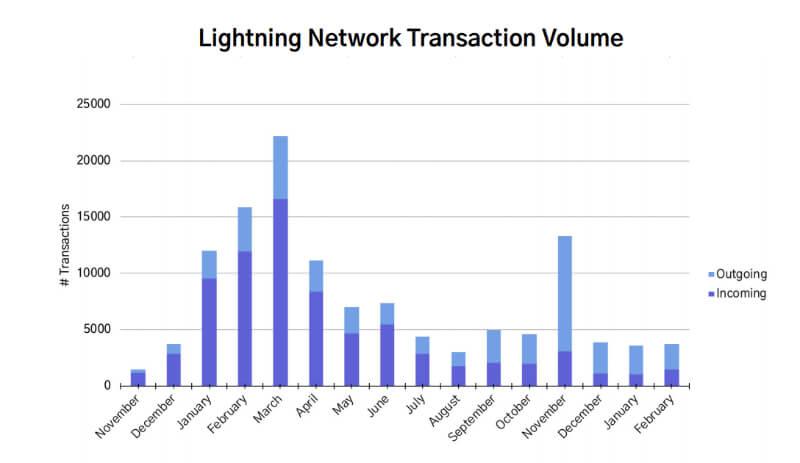 ライトニングネットワークのヴォリューム変動