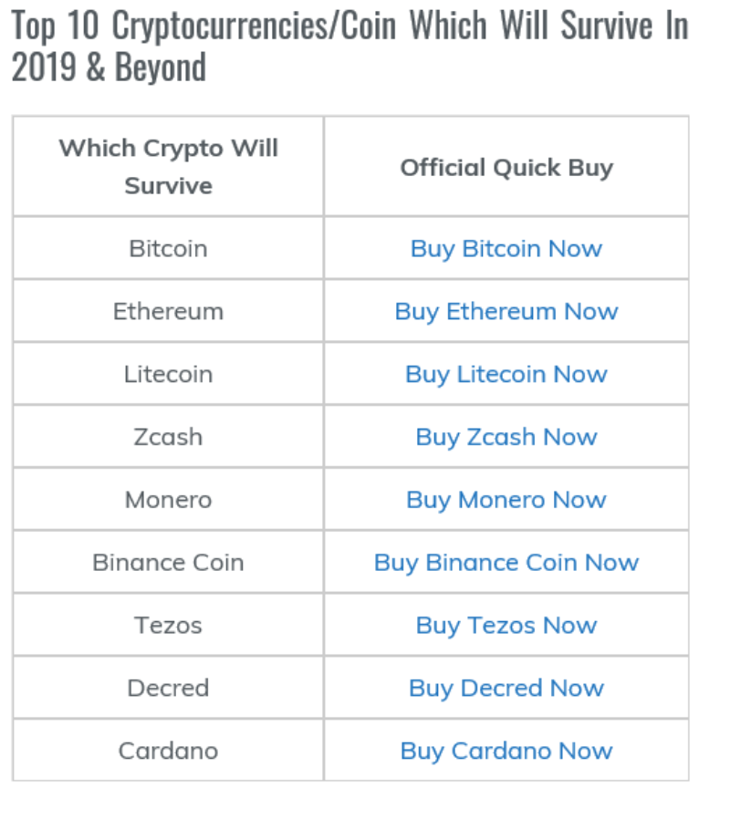 10年後生き残る仮想通貨リスト